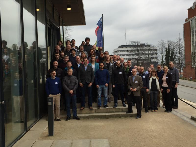 The STEMM-CCS meeting participants outside the Kunsthalle zu Kiel <span style=